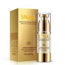 Крем для кожи вокруг глаз с муцином улитки увлажнение и лифтинг ONESPRING Snail Cream Eye Repair&Brightening (60мл)