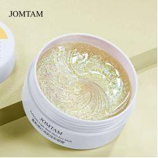 Гидрогелевые патчи в банке с фулереном и экстрактом красных водорослей JOMTAM Fullerene Light Bulb Skin Eye Mask (80г/60шт/30пар)