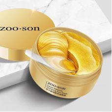 Гидрогелевые патчи в банке с экстрактом икры ZOOSON Caviar Elastic Moisturizing Eye Mask(80г,60шт30пар)