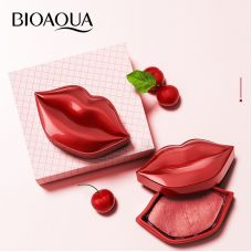 Тканевые патчи для губ с экстрактом вишни увлажняющие BIOAQUA Cherry Collagen Moisturizing Essence Lip Film (60г/20шт)