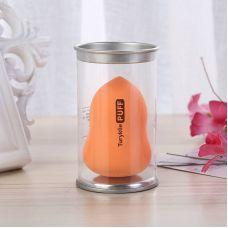 Спонж для макияжа фигурный в коробке оранжевый