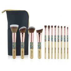 Набор кистей для макияжа профессиональный ANMOR Professional makeup brush set Indian бежевый (12шт)