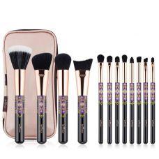 Набор кистей для макияжа профессиональный ANMOR Professional makeup brush set Indian черный (12шт)