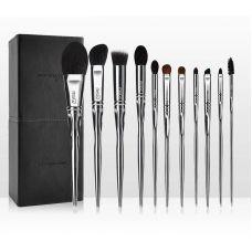 Набор кистей для макияжа профессиональный MSQ Professional makeup brush set Metal черный (11шт)