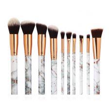 Набор кистей для макияжа MAANGE makeup brush set Marble серый (10шт)