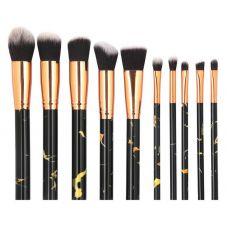 Набор кистей для макияжа MAANGE makeup brush set Marble черный (10шт)
