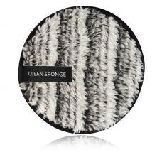 Хлопковый спонж для умывания MAANGE Clean Sponge черно-белый