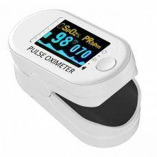 Пульсоксиметр на палец пульсометр электронный Pulse Oximeter для измерения пульса и кислорода в крови