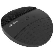 Вибрирующая силиконовая водостойкая щетка BlingBelle Black для чистки кожи лица с беспроводной зарядкой черная