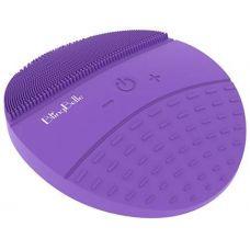 Вибрирующая силиконовая водостойкая щетка BlingBelle Purple для чистки кожи лица с беспроводной зарядкой фиолетовая