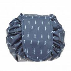 Сумка-органайзер для косметики Black Owl Expand синяя с веточками