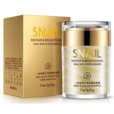 Крем для лица с муцином улитки увлажнение и лифтинг ONESPRING Snail Cream Repair&Brightening (60мл)