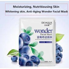 Маска-салфетка для лица с экстрактом черники увлажняющая BIOAQUA Wonder (30г)