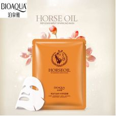 Маска-салфетка для лица с маслами увлажняющая BIOAQUA Horse Oil (30г)