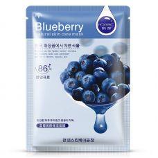 Маска-салфетка для лица с черникой питательная для чувствительной кожи ROREC Blueberry (30г)
