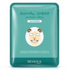 Маска-салфетка для лица Овечка увлажняющая BIOAQUA Animal Sheep Mask (30г)