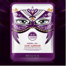 Маска-салфетка для лица омолаживающая карнавальная фиолетовая BIOAQUA Noble Temperament Surface Film Moist Plump (30г)