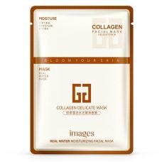 Маска-салфетка для лица питательная и подтягивающая с колагеном IMAGES Collagen Delicate Mask (30г)