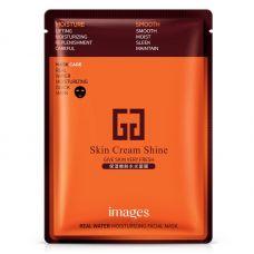 Маска-салфетка для лица увлажняющая с гиалуроновой кислотой IMAGES Skin Cream Shine Mask (30г)