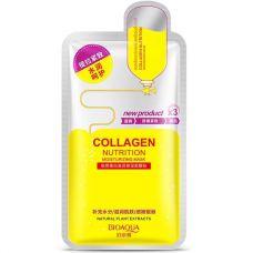 Маска-салфетка для лица коллагеновая BIOAQUA Collagen Nutrition Moisturizing Mask (30г)