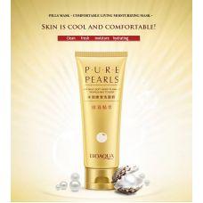 Очищающий крем для умывания с экстрактом жемчуга питательный BIOAQUA Pure Pearls (100мл)