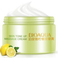 Очищающий массажный крем для лица для контроля жирности с экстрактом лимона BIOAQUA Skin Tone Up Massage Cream (120г)