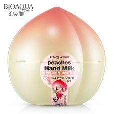 Крем для рук увлажняющий персиковый BIOAQUA Peaches Hand Milk (30мл)