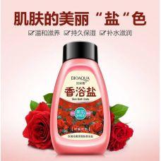 Соляной скраб для тела с розой BIOAQUA Skin Bath Salts (430мл)